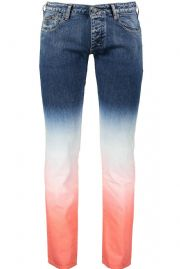 ARMANI JEANS J20 Blue Ombre Denim Cotton Stretch Jeans Trousers NEW & AUTHENTIC